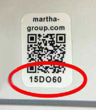 sticker PEC code of Martha Group
